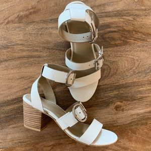 Rag & Co Ankle Strap Sandals w Chunky Hardware